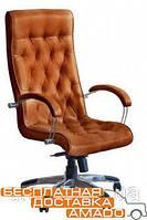 Кресло Бристоль HB Хром Механизм Anyfix Мадрас коньяк, фото 1