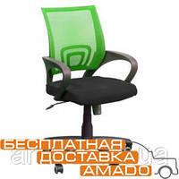 Кресло Веб сиденье Сетка черная/спинка Сетка салатовая, фото 1