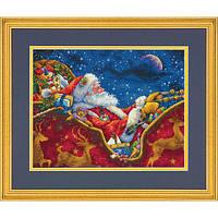 Набор для вышивания крестом Ночная Поездка Санты/Santa's Midnight Ride DIMENSIONS 70-08934