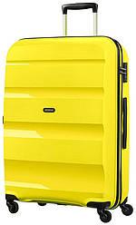 Большой пластиковый чемодан American Tourister Bon Air на 4-х колесах