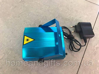 Мини лазерный проектор стробоскоп лазер шоу 4 в 1