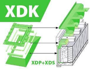 Комплект воротников гидро-пароизоляционный Fakro XDK 78х160 см, фото 2