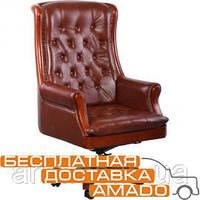 Кресло Линкольн, кожа коричневая (671-B+PVC), фото 1