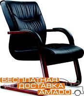 Офисное Кресло Монтана CF, кожа черная (619-D+PVC)