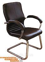 Офисное Кресло Ника CF хром Кожа Cплит черная