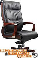 Кресло Монтана НВ, кожа коричневая (619-B+PVC), фото 1