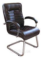 Офисное Кресло Орион CF хром Кожа Сплит черная