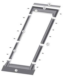 Воротник для окна-балкона Fakro EZV-A/G 94х255 см, фото 2