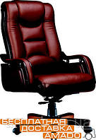 Кресло Ричмонд, кожа коричневая (642-B+PVC), фото 1