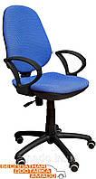 Синее офисное кресло с высокой спинкой Спринт/АМФ-4 А-2, фото 1