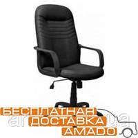 Кресло Стар Пластик Кожа Сплит черная, фото 1