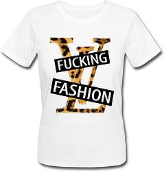 Женская футболка F*cking Fashion (белая)