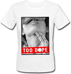 Женская футболка Too Dope (белая)