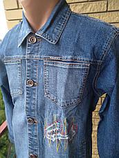 Куртка мужская (подростковая) джинсовая стрейчевая  VIGOOCC, фото 3