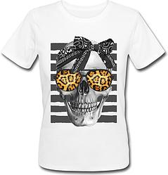 Женская футболка Skull With Bandana (белая)