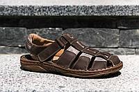 Чоловічі коричневі сандалі з натуральних матеріалів - якісне та зручне польське взуття!