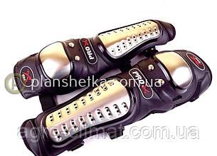 Мотозащита (колено, голень) пластик, PL, металл, неопрен, черный Pro X