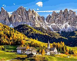 Картинa по номерам 40×50 см. Санта Маддалена Италия