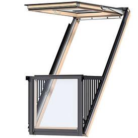 Мансардное окно-балкон Fakro FGH-V P2 Galeria 94х255 см