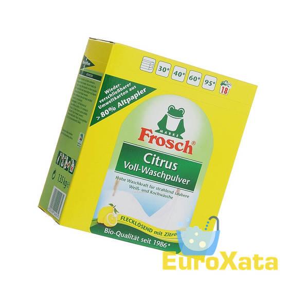 Стиральный порошок-концентрат Frosch Citrus Voll-Waschpulver (1,35 кг) Германия