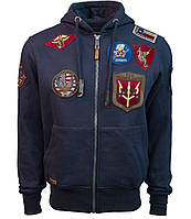 Реглан Top Gun Men's zip up hoodie with patches (синий)