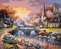 Картины по номерам 40×50 см. Мост через реку