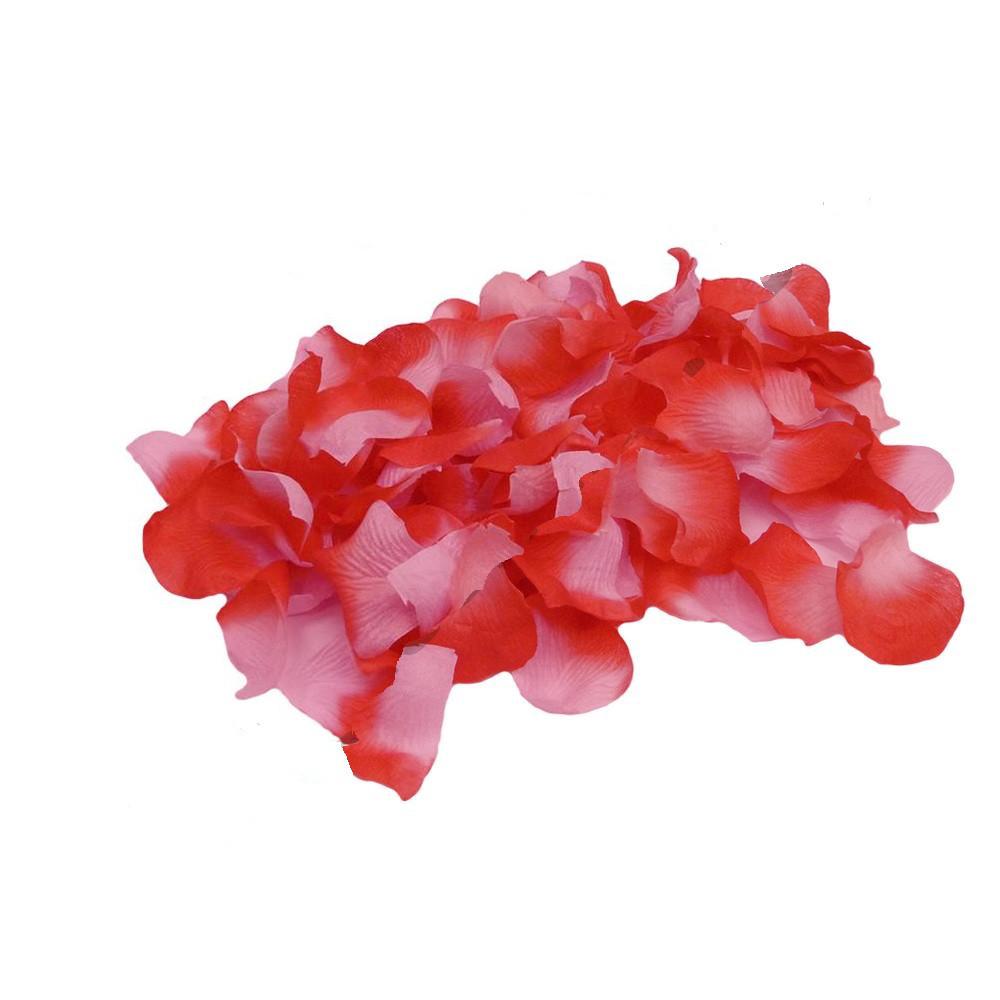 Пелюстки троянд (уп.120 шт) червоно-рожеві
