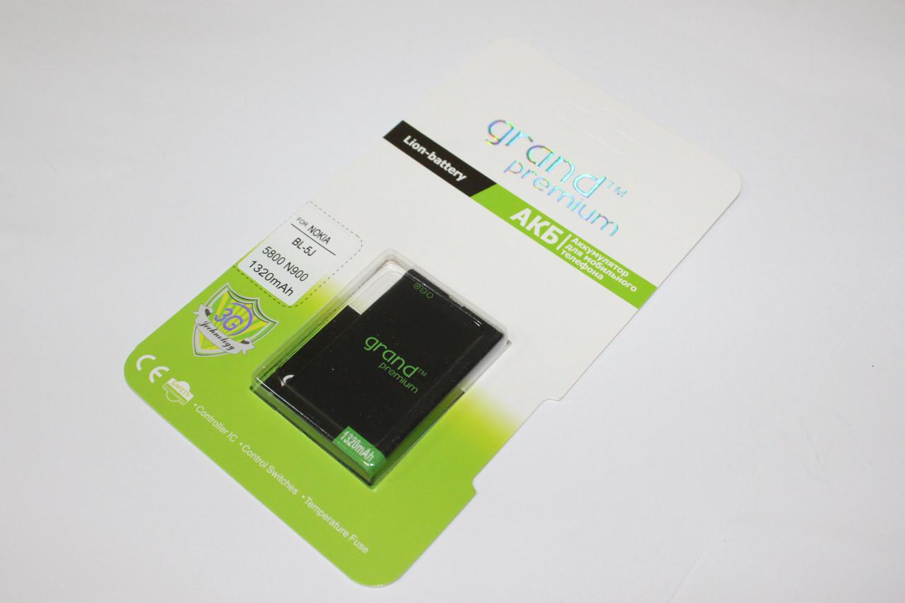 Аккумулятор GRAND Premium Nokia BL-5J (100%)