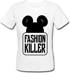 Женская футболка Fashion Killer (белая)