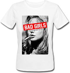 Женская футболка Bad Girls (белая)