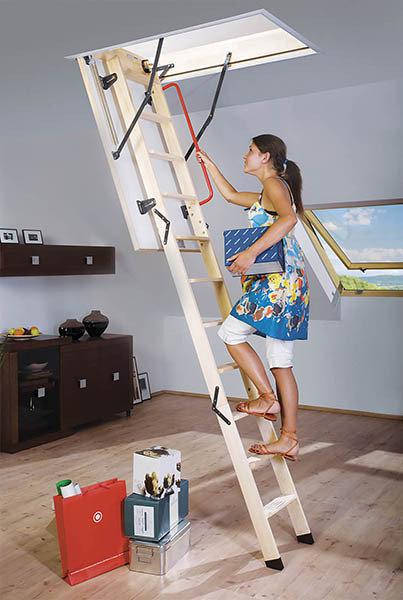 Деревянная чердачная лестница FAKRO LWK Plus 60х130 (305см), фото 2