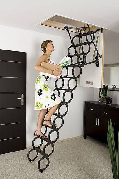 Металлическая раздвижная чердачная лестница FAKRO LST 60х120 (250-280 см), фото 2