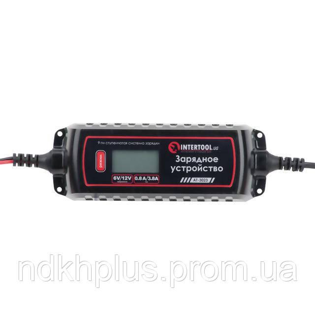 Зарядное устройство 6/12В, 0.8/3.8А, 230В, зимний режим зарядки, диспл