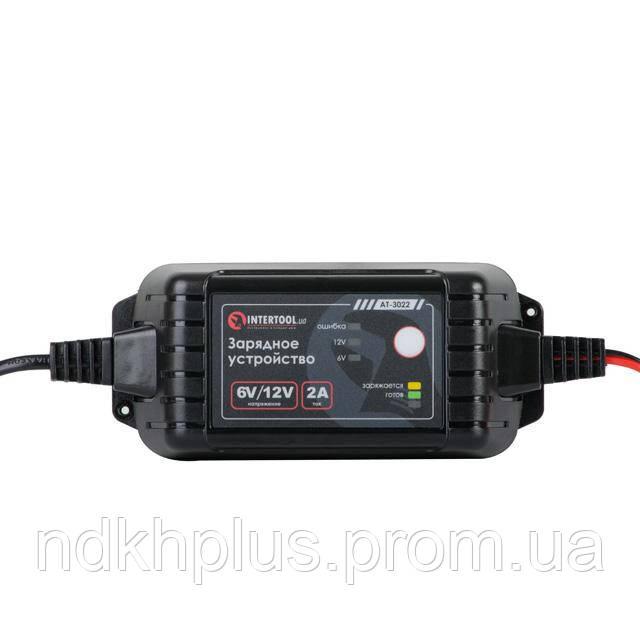 Зарядное устройство 6/12В, 2А, 230В, максимальная емкость заряжаемого