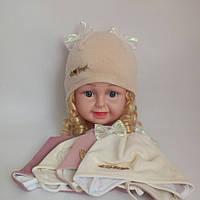 Детская трикотажная шапка для девочки р 38-40