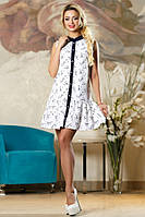 Летнее свободное белое платье Д-1496