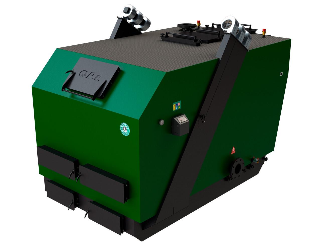 Универсальный промышленный котел на твердом топливе длительного горения Gefest profi U (Гефест-профи У) 250кВт