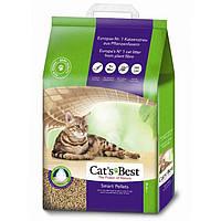 Cats Best Smart Pellets древесный комкующийся наполнитель для длинношерстных кошек 20л