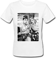Женская футболка Marilyn Monroe Tattoo (белая)