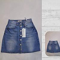 """Юбка женская джинсовая трапеция на пуговицах, размеры 34-40 Серии """"Jeans Style"""" купить оптом в Одессе на 7км"""