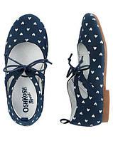 Стильные синие туфельки для девочек  Оshkosh