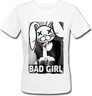 Женская футболка Bad Girl (белая)