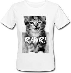 Женская футболка RAWR! (белая)