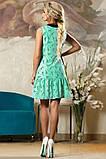 Летнее свободное зеленое платье Д-1497, фото 2
