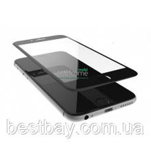 Стекло iPhone 6,6S (0.3 мм, 3D,4D, черное, с олеофобным покрытием)