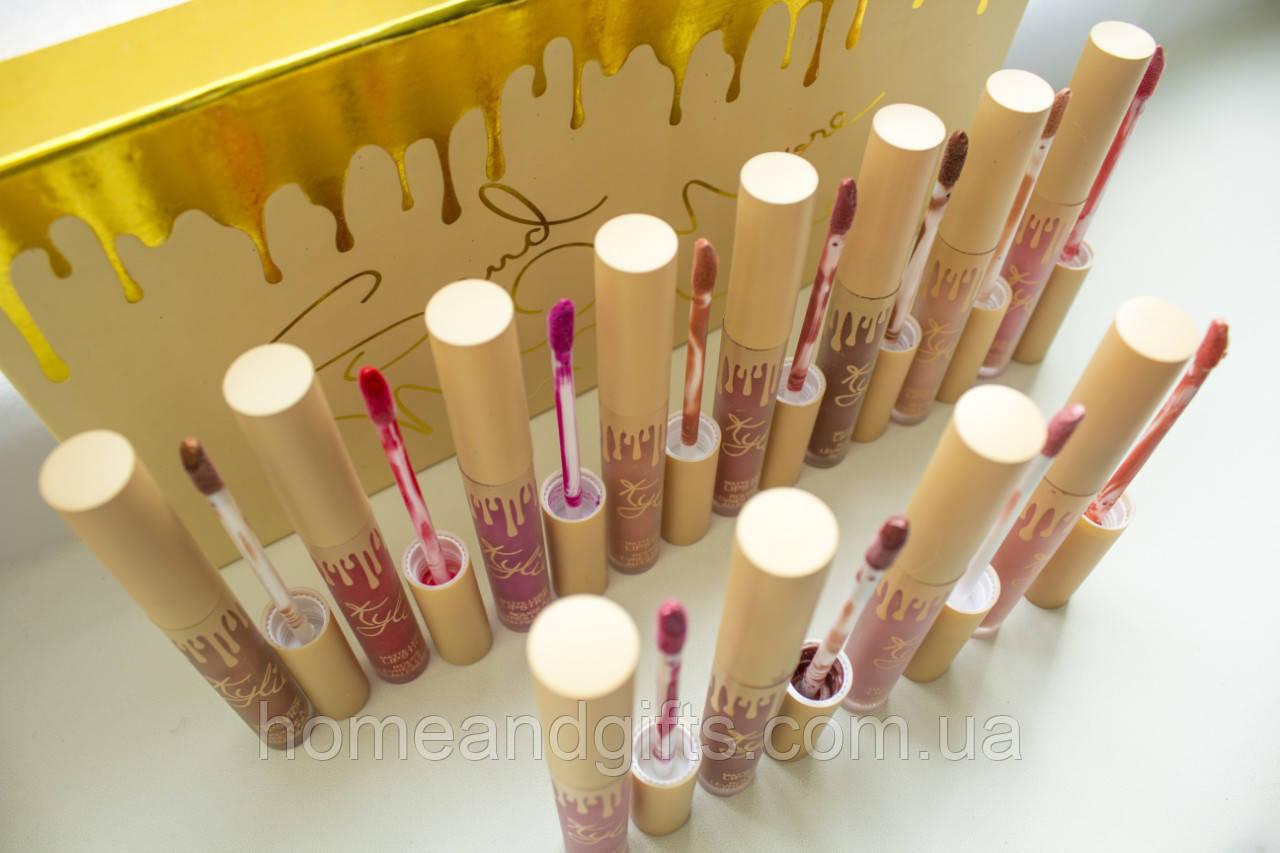 В стиле набор Помад Kylie Send 12 штук (золотая упаковка)