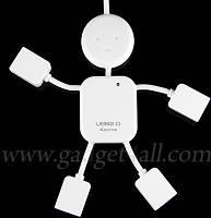 ЮСБ хаб на 4 порта в виде человечка - Super Kid USB 4-Port Hub