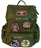 Оригинальный рюкзак Top Gun backpack with patches TGB1701 (Olive)