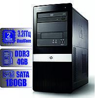 Системный блок HP 2 ядра 3.2 GHz/4Gb-DDR3/HDD-160Gb