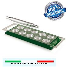 Равиольница ручная со скалккой Marcato Ravioli Tablet Verde, Италия